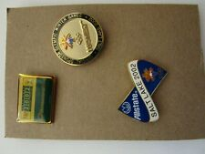 Salt Lake City 2002 Olympic Sponsor Pins -Allstate, Us West, Harris Interactive