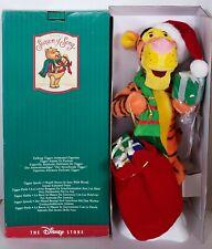 Disney Vintage 1997 Winnie The Pooh Tigger Animated / Talking Christmas Figurine