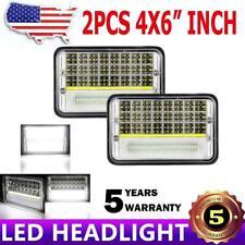 "2X 4x6"" 150W LED Headlight DRL Hi-Lo Beam Fit Honda XR250 XR400 XR650 Motorcycle"