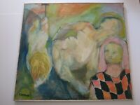 EILEEN SAVRAN  MODERNISM ABSTRACT  PAINTING  EXPRESSIONIST NUDE FIGURES VINTAGE