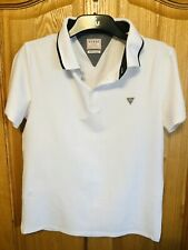 Guess White Polo Large Slim Fit Men's