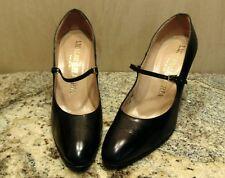 Vintage I. Miller Galleries Black Mary Janes Heels Sz 7N