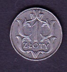 POLAND COIN, 1 ZLOTY 1929 YEAR