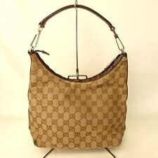 Authentic GUCCI GG canvas Shoulder Bag Canvas/Leather[Used]