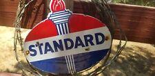 """""""USA Standard oil 10 by 12"""" Die cut  Vintage steel porcelain Advertising  sign."""