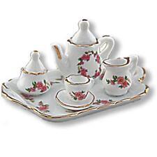 Dollhouse Tea Set for 1 Reutter Porcelain 1.625/8 Lisa Pattern 5-pc 1:12