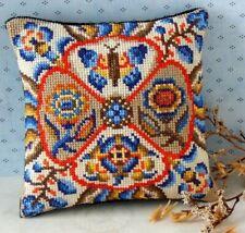 Cojín De Mini Jardín Rústico Cross Stitch Kit, Sheena Rogers Designs
