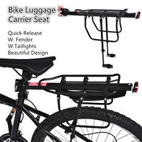 Bike Bicycle Quick Release Luggage Seat Post Pannier Carrier Rear Rack W.Taillig