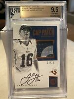 2016 Panini Encased Jared Goff Rookie Cap Patch Auto 24/25 BGS 9.5/10 LA Rams