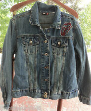 RARE Rolling Stones JEAN  Jacket 2003 Licks CONCERT Tour small  WOMENS