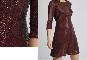 NEW! SALE! Dorothy Perkins Red Sequin Empire Fit And Flare Dress UK10 EU42