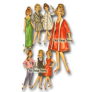 "Vtg 60s Barbie Doll Dress Pattern ~ 11.5"" Tressy, Annette, Mitzie, Babs, Kay"