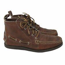 Allen Edmonds Brown Bison Leather Ankle Moc Toe Chukka Boots Men's Size 9.5 D