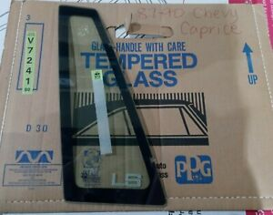 1987-1990 CHEVY CAPRICE REAR DRIVERS LEFT SIDE VENT GLASS DV7241