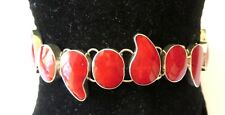 RED CORAL STERLING SILVER BRACELET 21 CM NEW