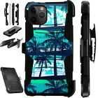 For iPhone 11/X/8/7/6 PRO MAX PLUS Holster Phone Case Cover PALM TREE LuxGuard