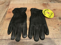 Palm Patch Thinsulate Black DeerSkin Leather Motorcycle Biker Riding Gloves #006