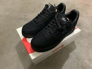Air Force 1 Stussy Black Size 9.5