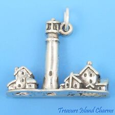 NEW JERSEY CAPE MAY LIGHTHOUSE 3D .925 Sterling Silver Charm Pendant LIGHT HOUSE