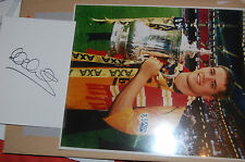 LIVERPOOL FA CUP WIN MICHAEL OWEN SIGNED WHITE CARD + 10X8 PHOTO