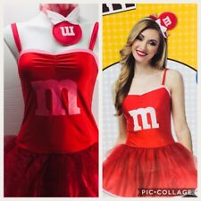 Adult M&M's Party Dress Costume Red M&M Fits Most Dress Size 4 - 10