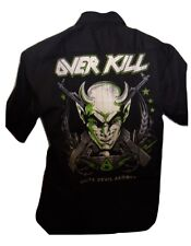 Overkill 'White Devil Armory' Dickies Work Shirt size medium, official merch