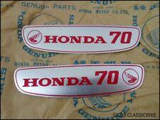 Honda CUB 70 C70 C70M Gas Tank Sticker Emblem Decal Aluminium / A PAIR