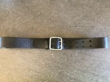 Polo Ralph Lauren Black Leather Wide Police Style Belt 32 NWT