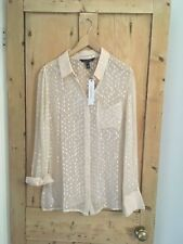 LONG TALL SALLY PEACH SHIMMER DETAIL BLOUSE/SHIRT, LONG SLEEVED, SIZE 12, BNWT