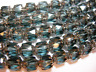 25 Montana Blue and Silver Cathedral Czech Glass 6mm beads