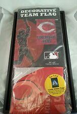 "CINCINNATI REDS -  Suede Glitter Flag - Double sided - 29"" X 43"" - MLB - NEW"