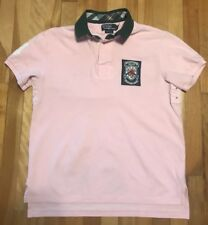 Polo Ralph Lauren Pink Patch Number 14 Custom Fit Polo Medium Classic Preppy