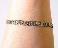 "VTG Anchor Chain Bracelet Gold Tone Marked Italy Minimalist Costume Jewelry 8"""