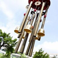 "33"" Large Resonant Wind Chimes 10Tube Copper Church Bell Outdoor Garden Decor"