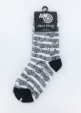 Kids Music Novelty Socks - Black and White Sheet Music Childrens Socks
