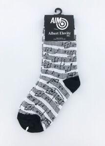 Kids Music Novelty Socks - Black and White Sheet Music Childrens Socks