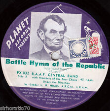 R.A.A.F Central Band - Battle Hymn Of the Republic  / Drawing Room 45 - Planet