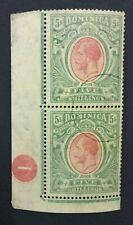 MOMEN: DOMINICA SG #54 USED PAIR 1914 LOT #193171-1722