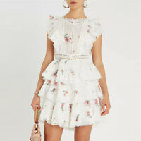 New Zimmermann Style Heathers Pintuck Frill Dress Floral Short Dress Women Skirt