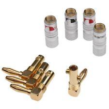 10 pairs 45° Angle Adapter Eico Amp Speaker Banana Tip Plug 24K E0512D USA Ship