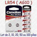 Pile Bouton LR Alcaline 1,5V : AG10 LR54 LR1131 389 ( par 2, 10, 20, 50 ou 100 )