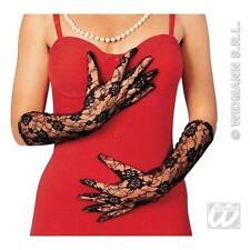 40cm Ladies Black Lace Gloves Moulin Rouge Dancer Flapper Fancy Dress 1920s