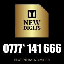 GOLD MEMORABLE RARE DIAMOND VIP BUSINESS MOBILE PHONE NUMBER SIM CARD 777 666