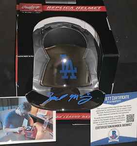 Zach McKinstry Dodgers Autographed Signed CHROME Mini Helmet Beckett COA .