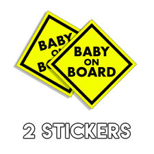 Baby on Board - DIAGONAL Bumper Sticker Funny Infant Car Decal Vinyl  - 2 Pack