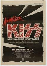Kiss UK Tour advert 1984