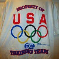 NWT VINTAGE Property of USA Training Team XXL Olympics T Shirt Size XL Deadstock