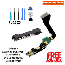 BLACK Replacement Charging Dock/Port + Microphone + Loudspeaker FOR iPhone 4 NEW