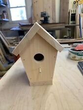 BIRD HOUSE WOODEN  A ROOF   20 AVAIBLE