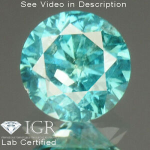 0.31 cts. CERTIFIED Round SI3 Vivid Sky Blue Color Loose Natural Diamond 24201